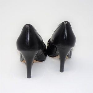 Oscar de la Renta Shoes - OSCAR DE LA RENTA | Black Round Toe Leather Pumps